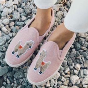 Soludos Llama Dusty Rose Pink Slip On Sneakers